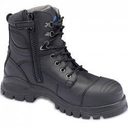 Blundstone Zip/Lace Black Safety Boots