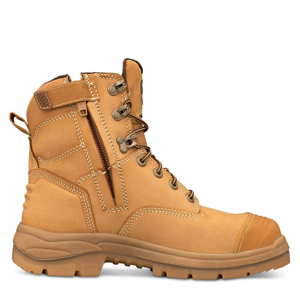 Oliver 150mm Wheat Zip Sided Boot